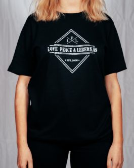 "T-Shirt ""Love, Peace & Leberkäs"""
