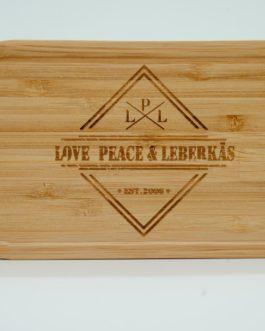 "Brotzeitbox ""Love, Peace & Leberkäs"""